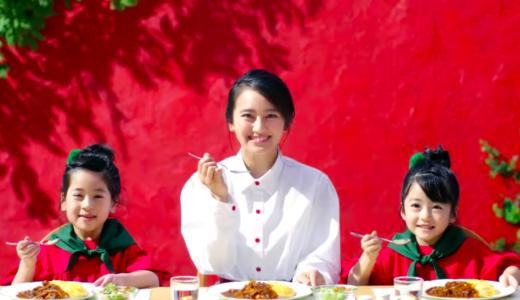 【完熟トマトのハヤシライスソース】CMの女優は誰?笑顔が可愛い白い服の女性!