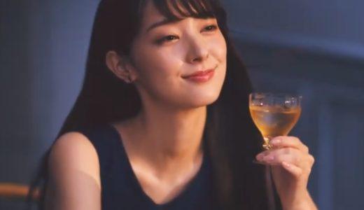 『The CHOYA』CMの女優は誰?梅酒を一口飲んで微笑む黒髪ロング美人!