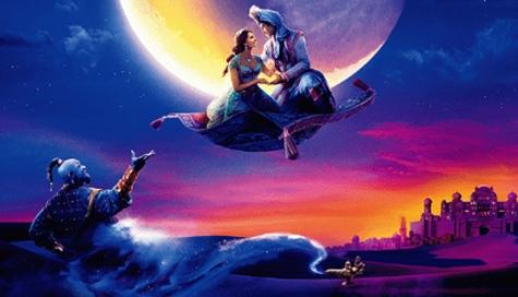 ディズニー映画『アラジン』 魔法の絨毯に乗って、夜の散歩に出かけよう!!